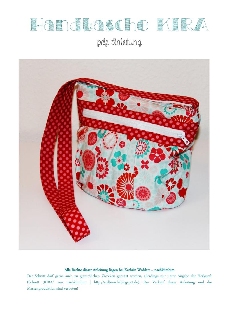 Handtasche Kira - Kostenloses Schnittmuster | DIY bags and purses ...