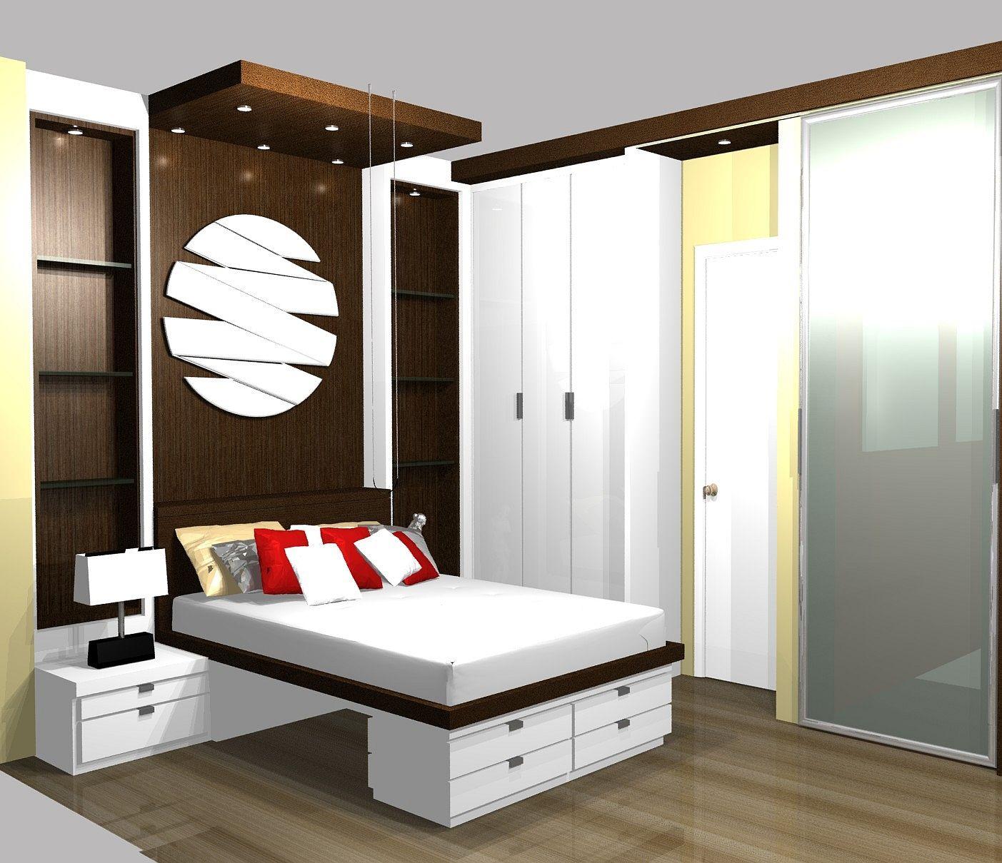 Lighted Closet Bar Moderna Vidro Apartamento Espelho Cama  ~ Quarto De Casal Grande Com Closet
