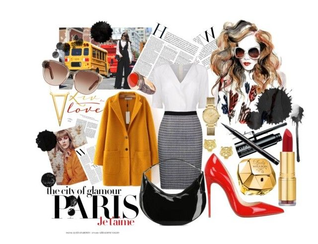 """""""HW"""" by lihoosh101 ❤ liked on Polyvore featuring H&M, BOSS Black, Christian Louboutin, Gucci, Ella Poe, GUESS, Isaac Mizrahi, Paco Rabanne, Chloé and Clinique"""