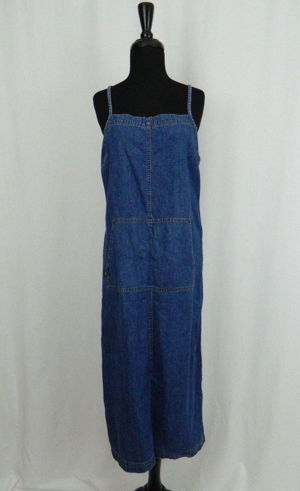 Lauren Jeans Co Denim Blue Spaghetti Strap Jean Dress Women's Petite Medium #LaurenJeansCo #Shift #Casual
