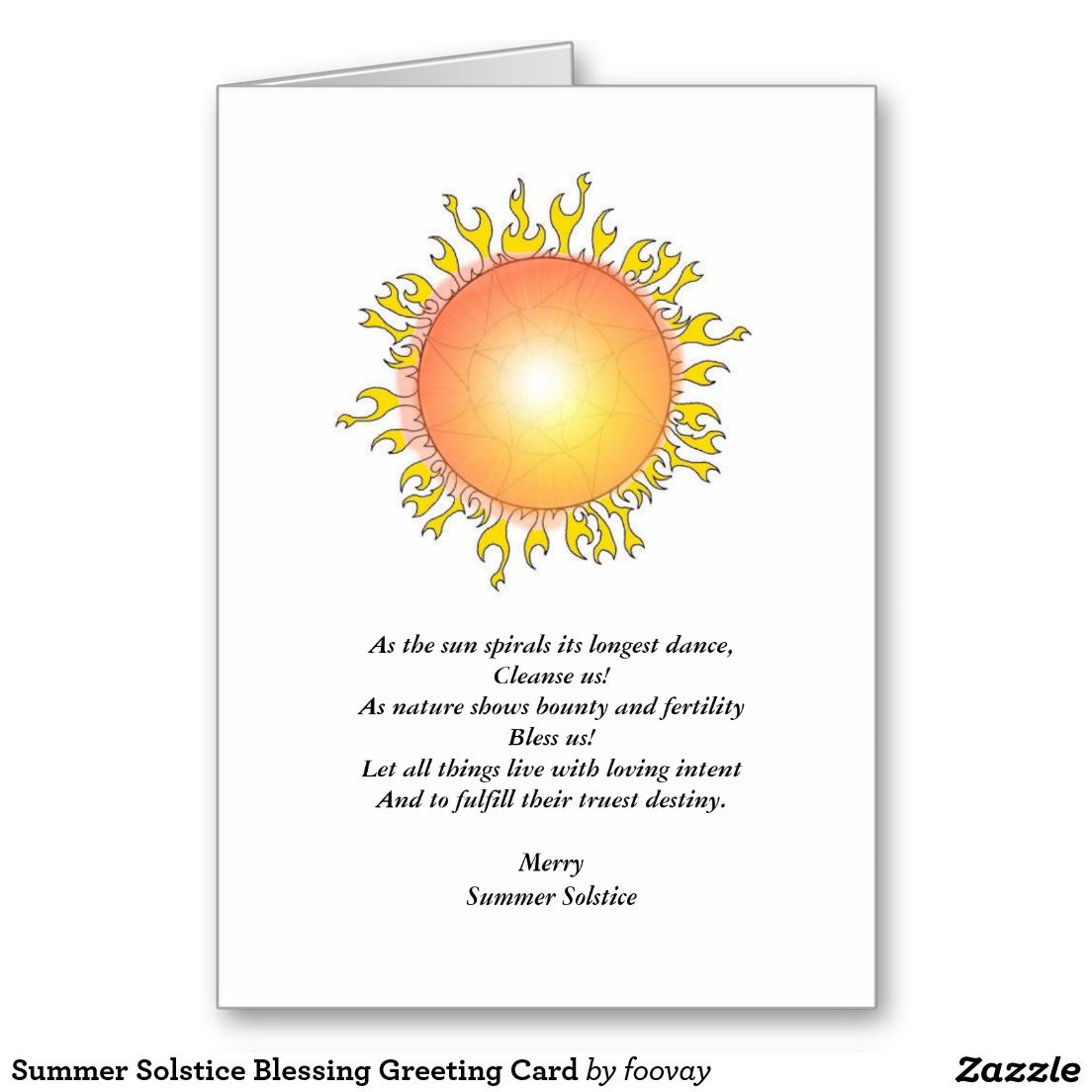 Summer Solstice Blessing Greeting Card | Pinterest | Summer solstice ...