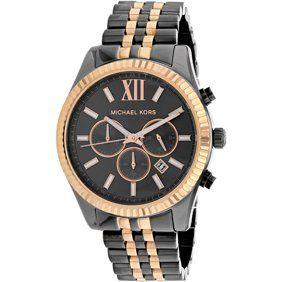 53792c446f4c Michael Kors Mini Parker Tortoise Acetate and Rose Gold-Tone Women s Watch