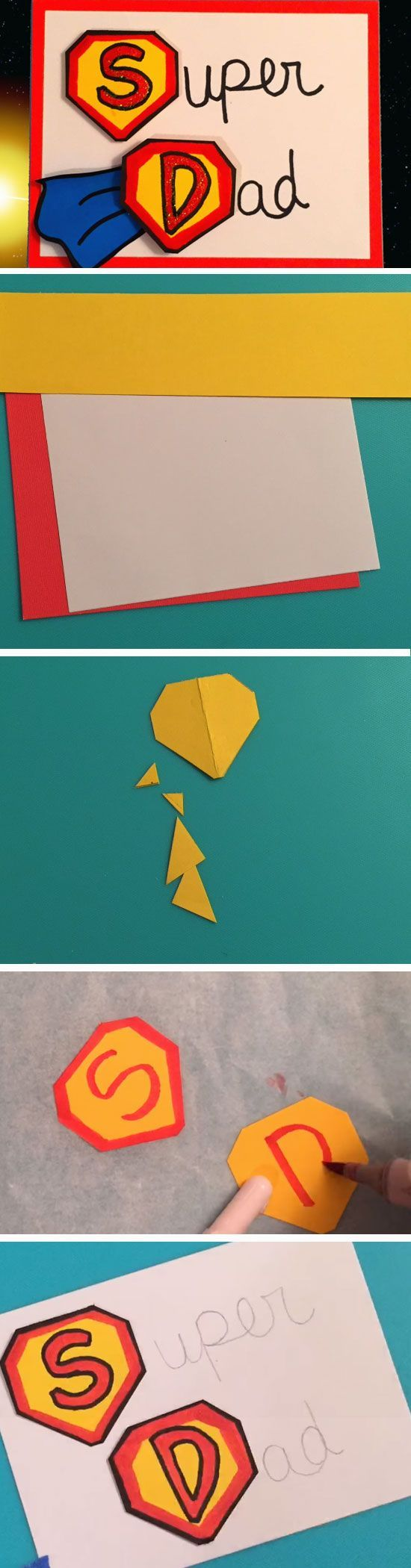 Super Dad Easy Homemade Fathers Day Cards To Make Diy Birthday
