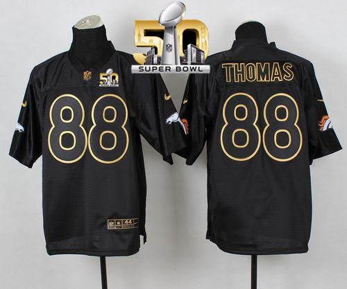 a855ab4efc4 Nike Broncos  88 Demaryius Thomas Black Gold No. Fashion Super Bowl 50 Men s  Stitched