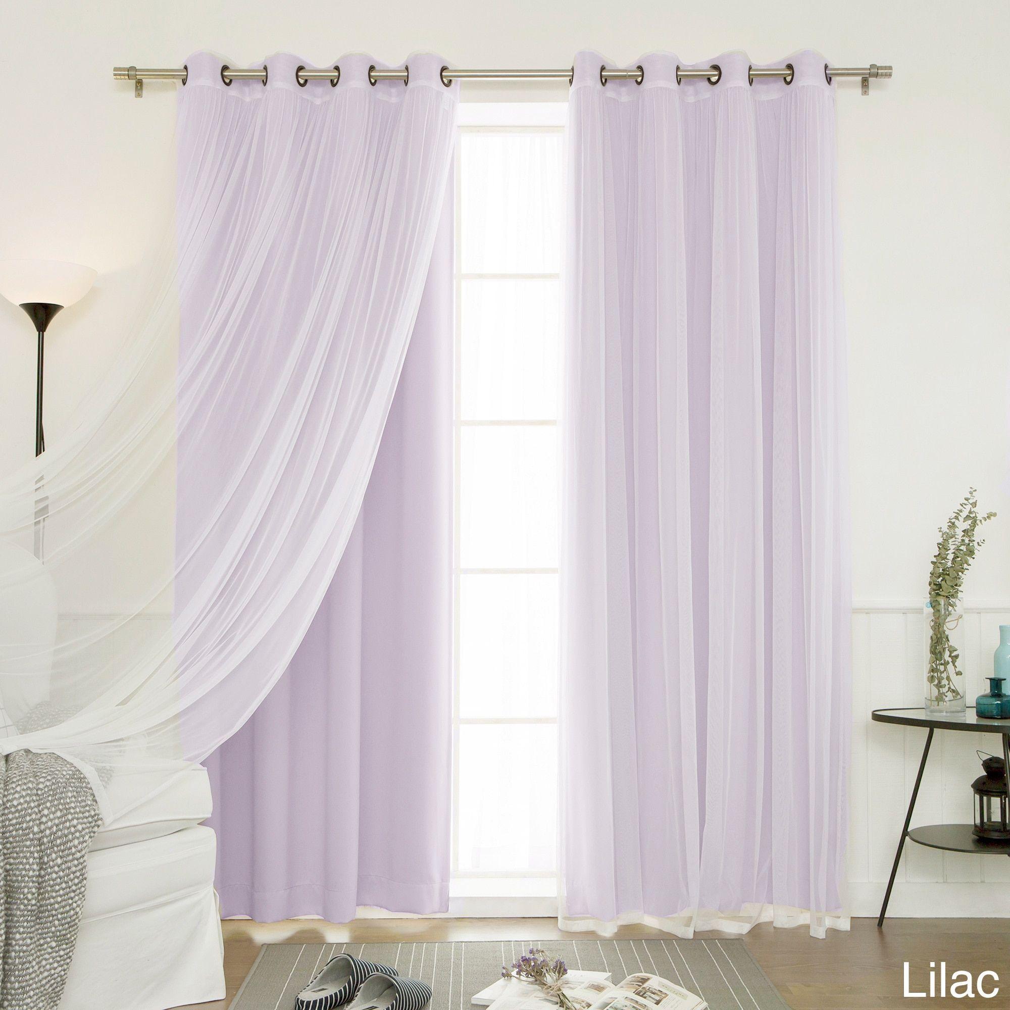Elegant Aurora Home MIX U0026 Match Curtains Blackout Tulle Lace Sheer Bronze Grommet  4 Piece Curtain