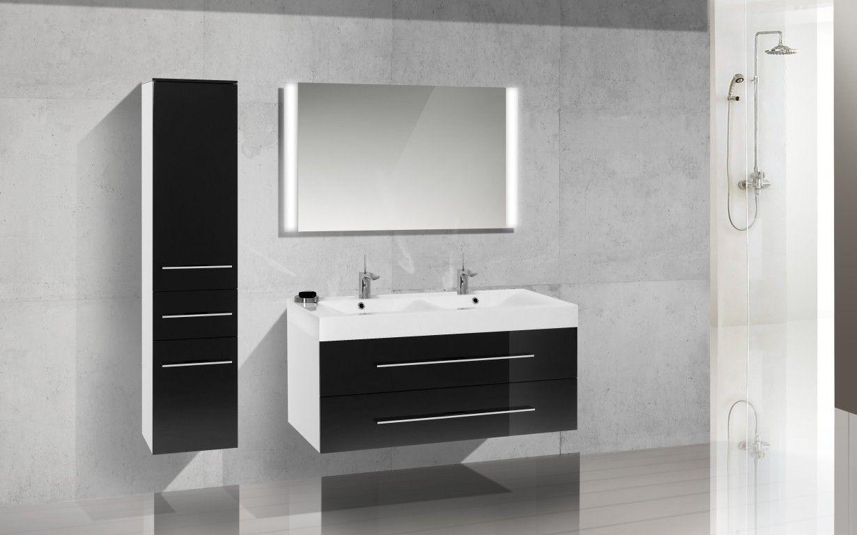 Doppelwaschtisch 120 cm Design Badmöbel Set Waschbecken Jetzt ...
