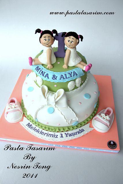 Twin Girl Birthday Cake Let Them Eat Cake Birthday