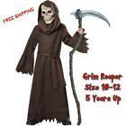 Grim Reaper Child Scary Halloween Costume Spooky Mask One Size 1012  5 Years