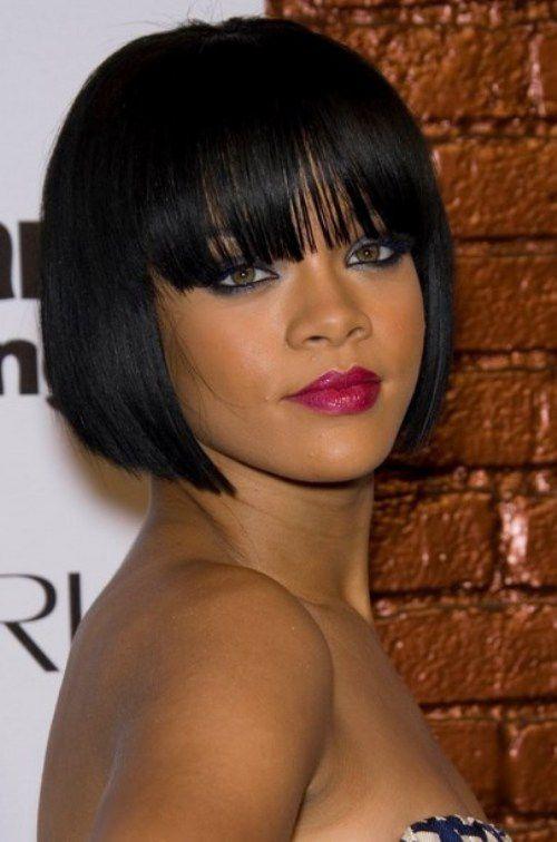 Rihanna Cleopatra Blunt Short Bob Hairstyles 2017 Hairstyles Ideas