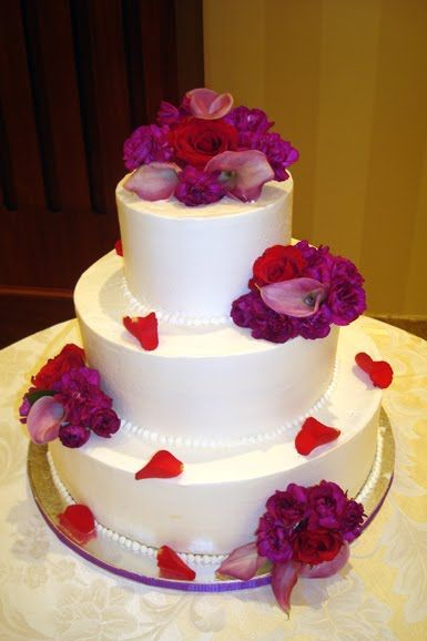 Red Purple Pink Wedding Then Have The Rest Of The Flowers In Red
