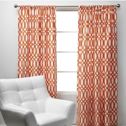 Curtains For The Living Room Orange Blue And Gray Orange Curtains Modern Curtains Window Panel Decor