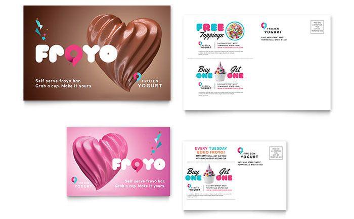 VAVA Frozen Yogurt, Thailand Frozen yogurt shops Pinterest - free postcard templates microsoft word