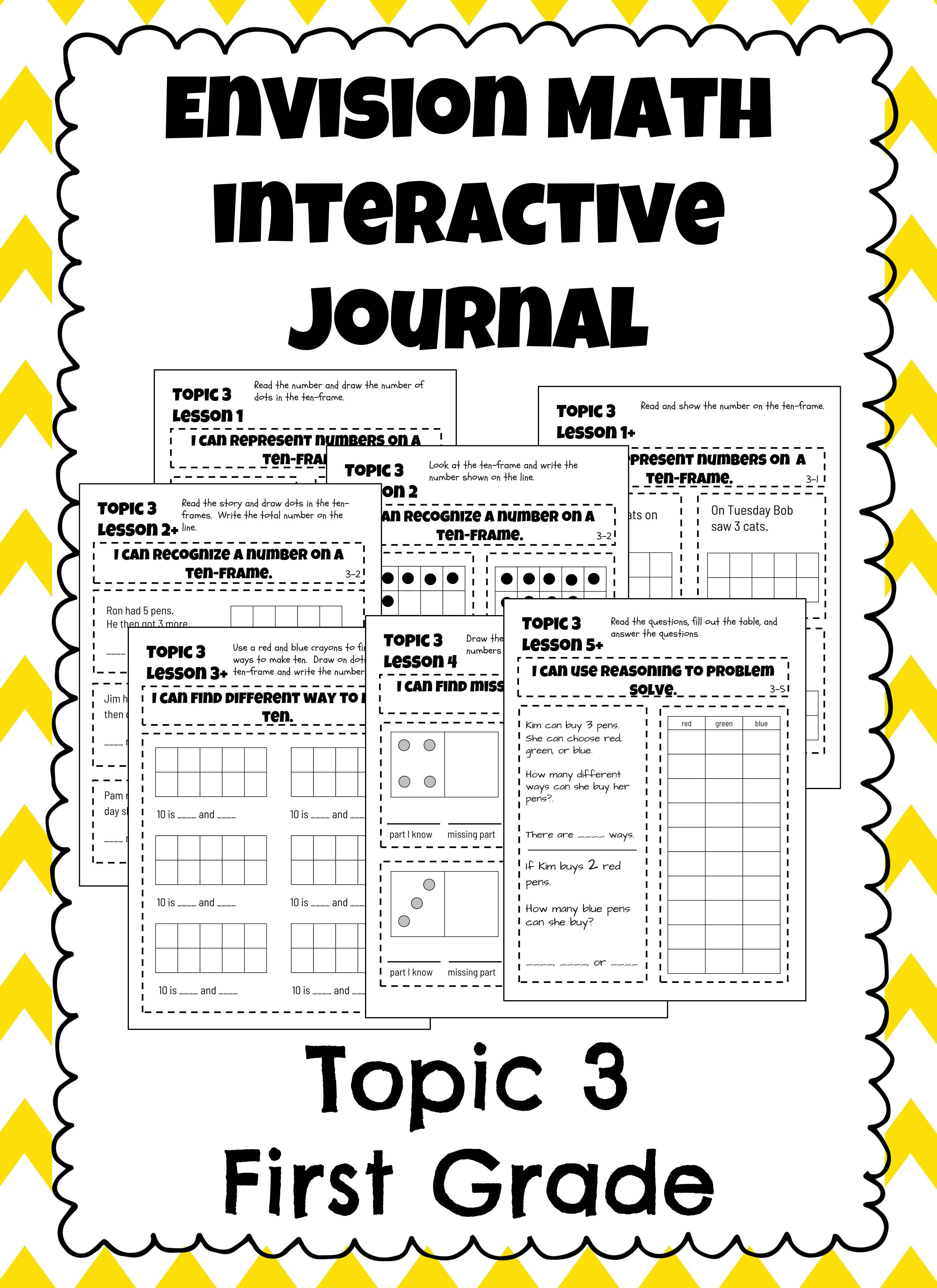Addition Facts To 20 Envision Math Topic 3 Interactive Journal Notebook Envision Math Interactive Journals Interactive Math Journals [ 4690 x 3411 Pixel ]