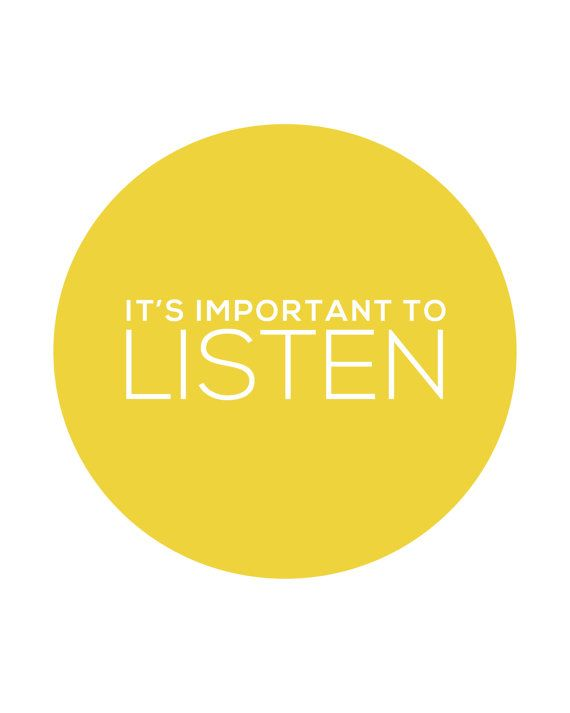 It's Important To Listen Print INSTANT DOWNLOAD by coldcupoftea