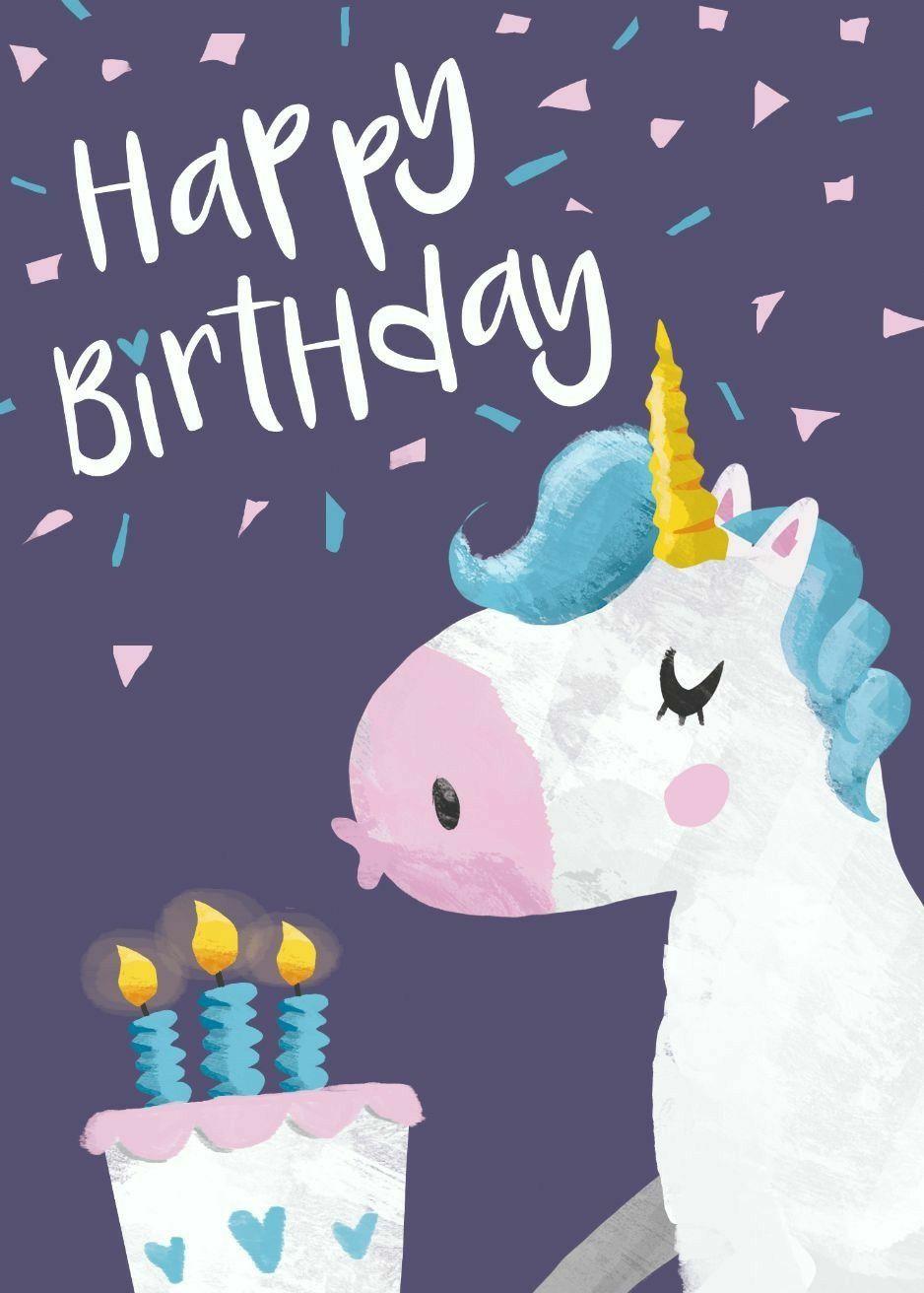 Unicorn birthday cards by Bloss on Happy Birthday
