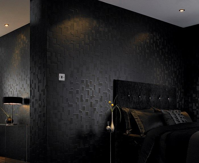 Checker Black Wallpaper Dark Geometric Wall Coverings By Graham Brown Modern Wallpaper Black Wallpaper Bedroom Black Wallpaper