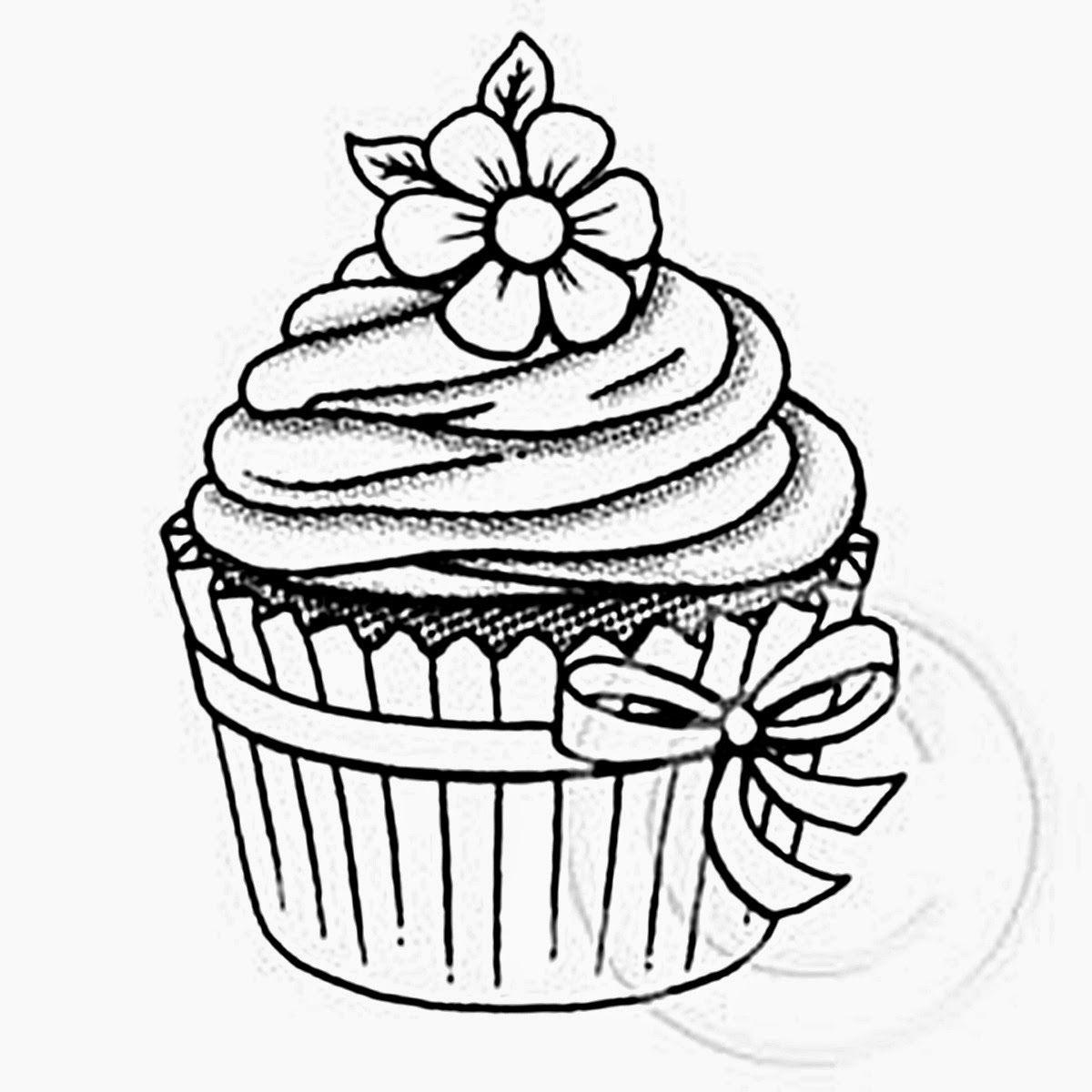 elegant cupcakes ausmalbilder kostenlos  top kostenlos