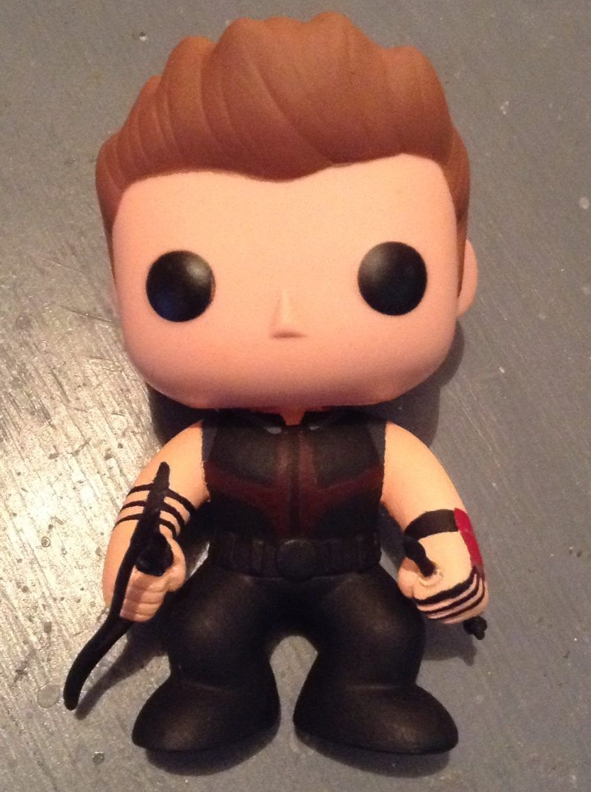 Someone Else Made A Hawkeye 3mo Ago So Fairly Sure Ours Came First And We Went From Blanks Custom Funko Pop Custom Funko Funko Pop Vinyl Collection