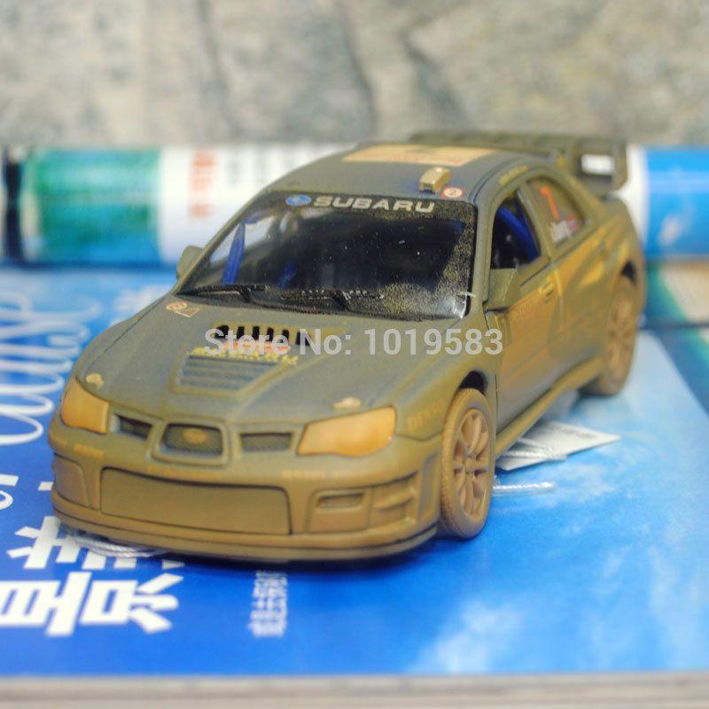 브랜드 새로운 1/36 규모의 자동차 모델 장난감 진흙 판 스바루 임프레자  Wrc 2007 레이싱 자동차 다이 캐스트 금속 자동차 모델 장난감
