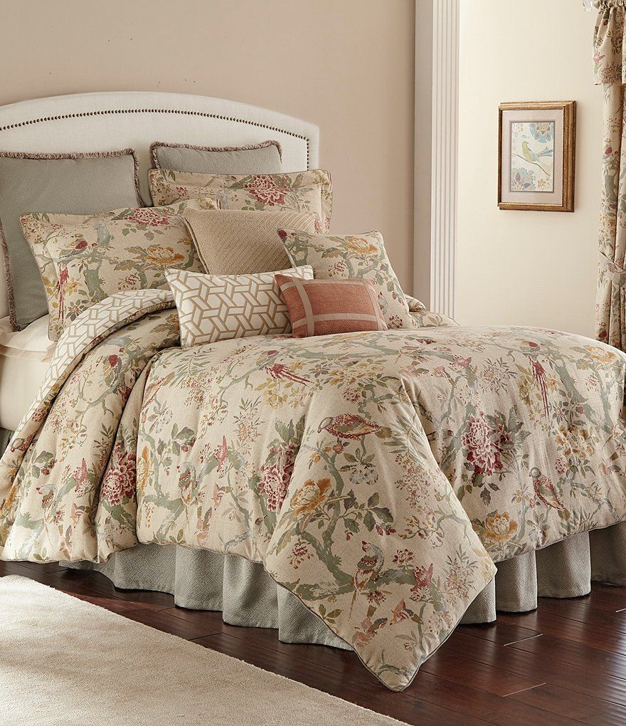 Rose Tree Biccari Vintage Floral Geometric Reversible Comforter Set Dillard S Comforter Sets Floral Comforter Sets King Comforter Sets