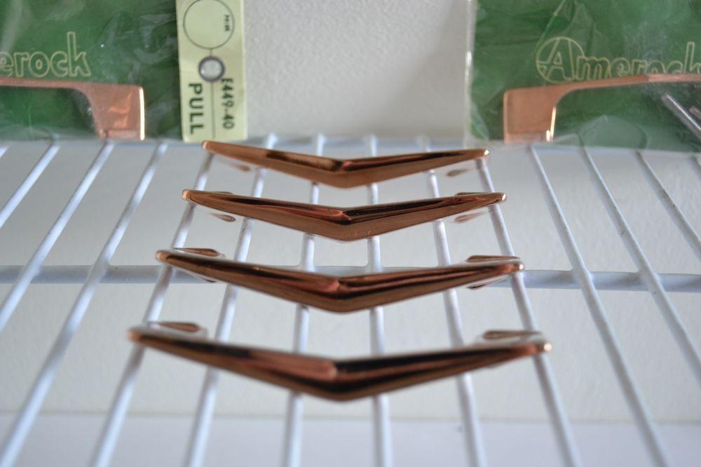 Vintage Amerock Cabinet Door Pulls Copper Plated Chevron Boomerang Lot Of 6 Amerock Vintage Copper Cabinet Pulls Amerock Door Pulls