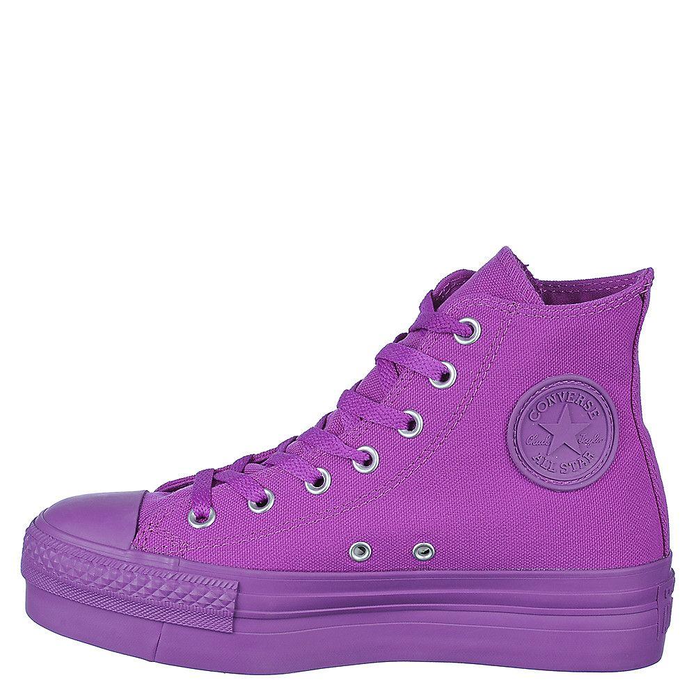 womens converse black & purple all star glitter ox trainers