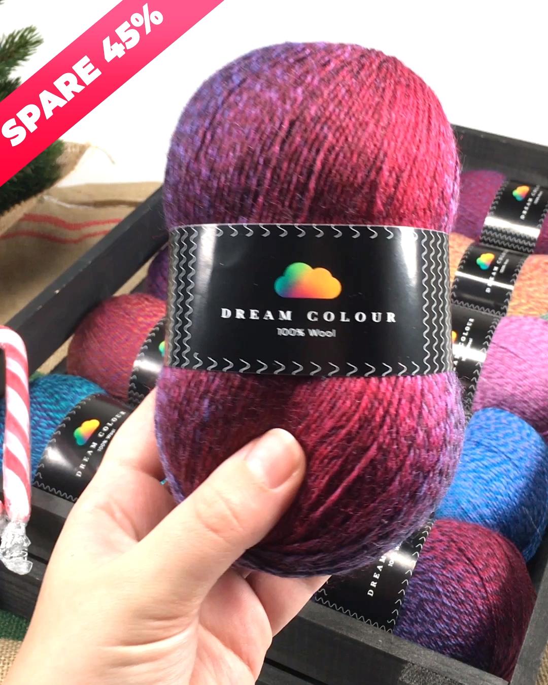 Spare 45% auf Dream Colour-   Dream Colour besteht aus 100% neuer Wolle, tolle K…