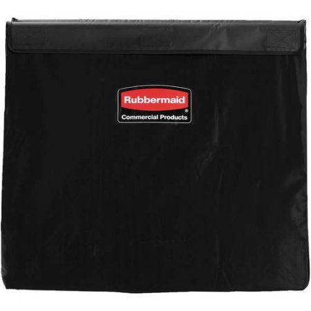 Rubbermaid Commercial Collapsible X-Cart 8 Bushel Vinyl Replacement Bag, 220 lbs, Black