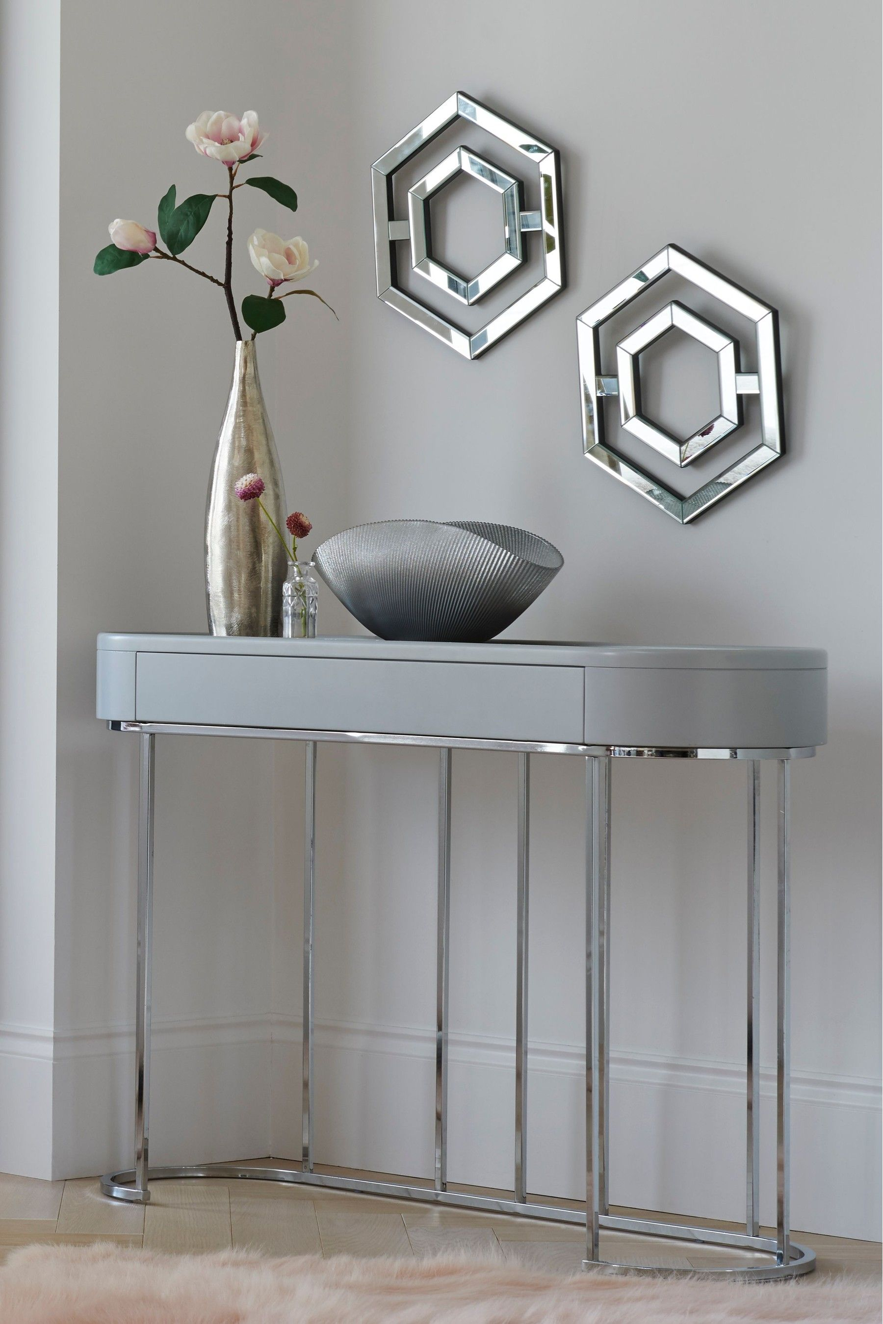 Next Sloane Marble Console Table Grey Console Table Hallway Gray Console Table Marble Console Table