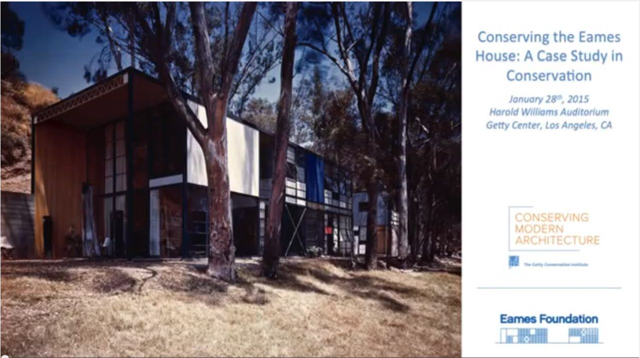 Conserving The Eames House A Case Study In Conservation Eames  # Muebles Janine Bogota
