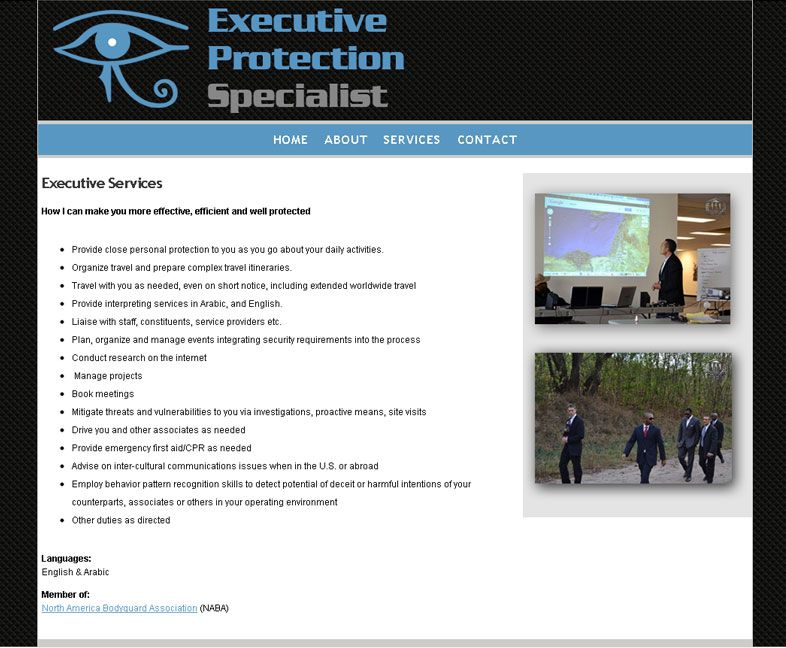 Executive Protection Specialist Web Design Pinterest Military - executive protection specialist