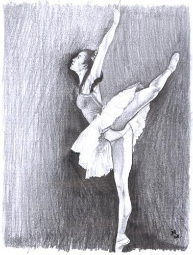 hecho a mano impresionismo en angel blanco bailarina de ballet