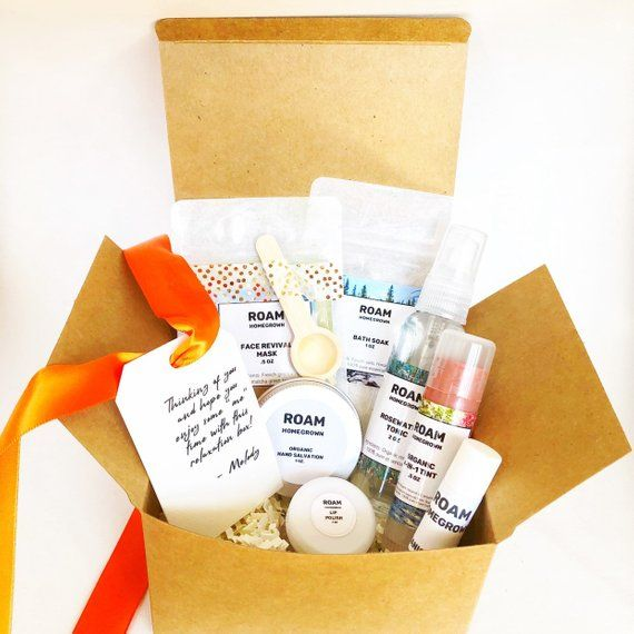 Birthday Gift For Her Includes Seven Amazing All Natural Skincare Products That Nourish Relax And Revive Skin Set Comes Wrapped In Kraft Box With