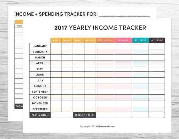 2017 Blog + Social Media Planner Set - COLOR VERSION Yearly