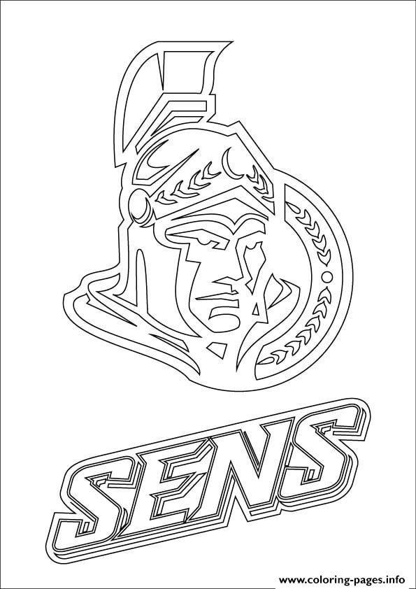 Print ottawa senators logo nhl hockey sport coloring pages