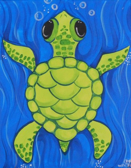 Watercolor Sea Turtle … | スケッチ | 水彩画、水彩、水彩イラスト