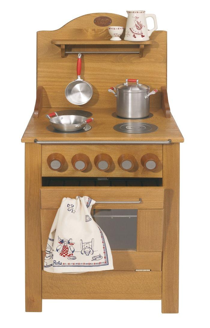 Cuisinière en bois par Moulin Roty, disponible chez Saperlipopette ...