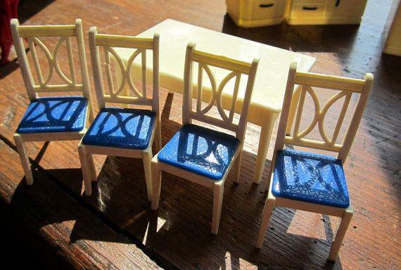 Vintage Miniature RELIABLE Kitchen Table and Four by PendragonFarm, $22.00