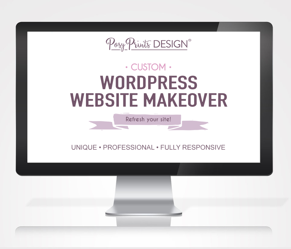 Photographer Website Makeover By Posy Prints Design- Wordpress