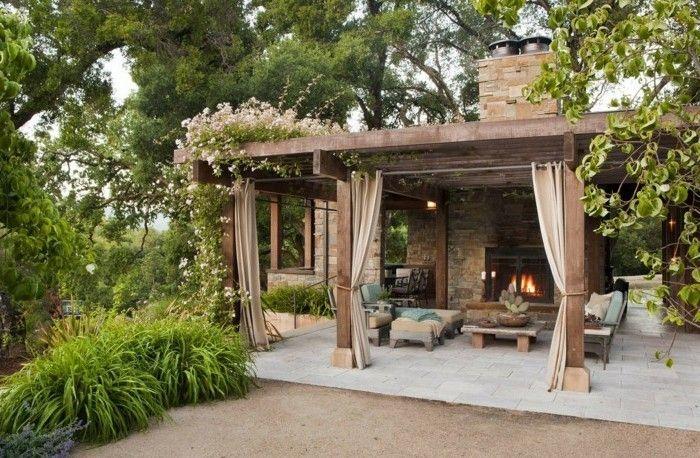 pergola-mit-sichtschutz-schöne-gartengestaltung Gartengestaltung