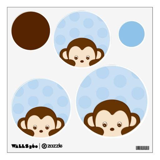 Mod Monkey Polka Dot Nursery Wall Stickers Decals