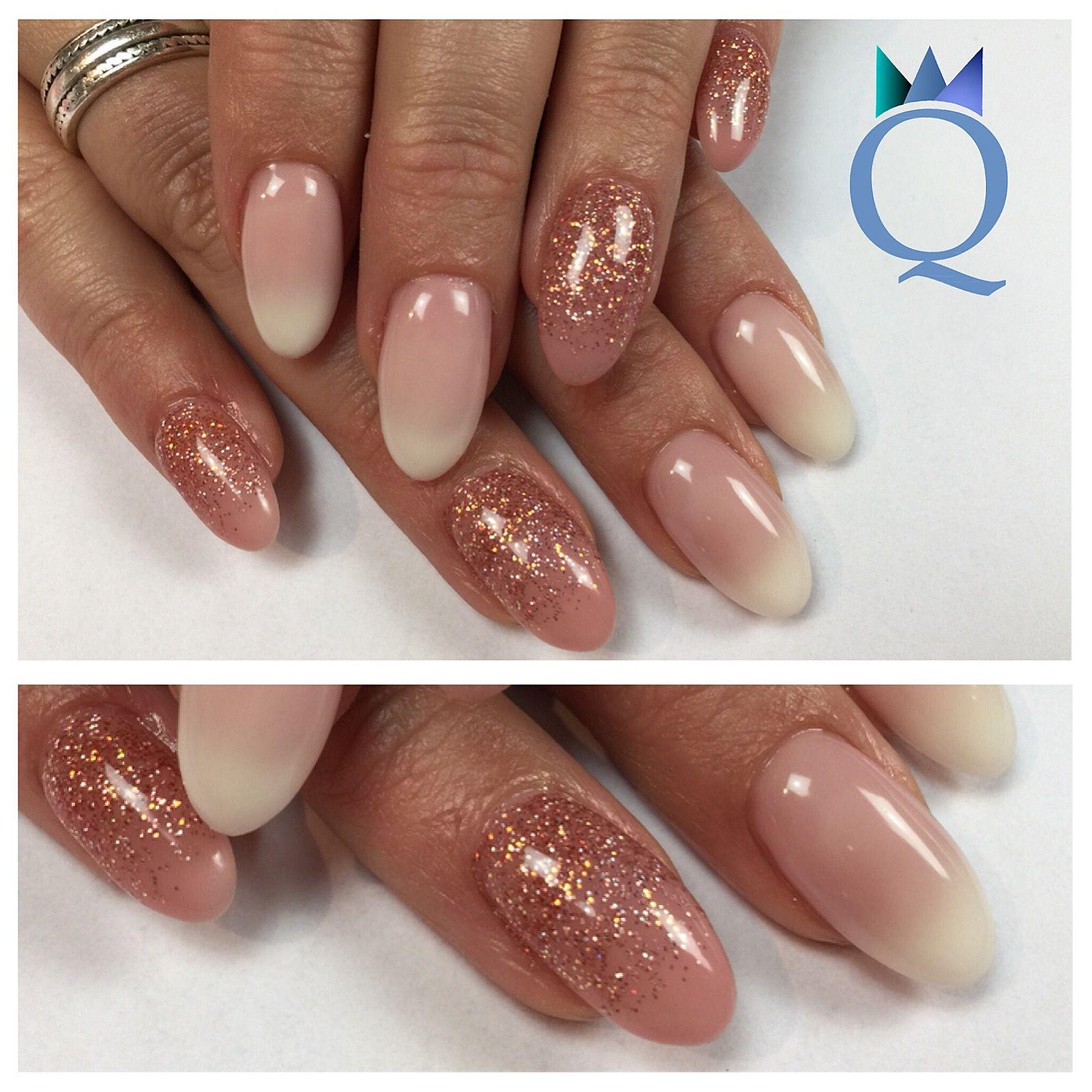 almondnails #gelnails #nails #babyboomernails #glitter #ombre ...