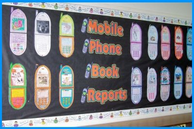 Cell Phone Book Report Projects Templates Worksheets Grading