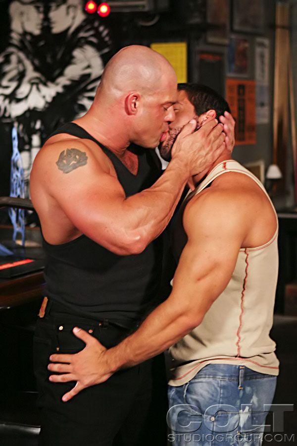 Gay hunk kiss