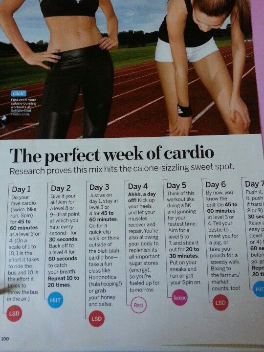 Week of cardio