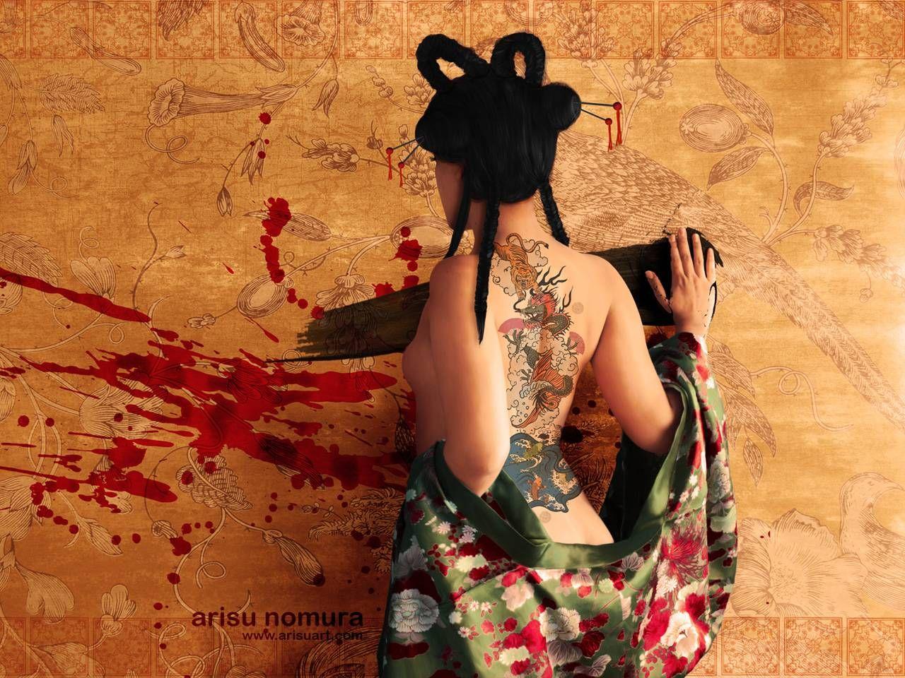 Tattooed Japanese Women Japanese Girl Japanese Girl Tattoo