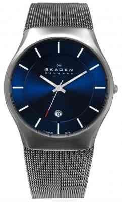 ce8e7ef583f35 Skagen Men s Titanium Blue Dial Mesh Strap Watch 956XLTTN  https   timetogetone.myshopify