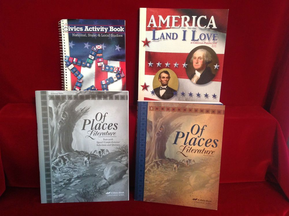 Abeka Gr 8 Of Places Lit St Bk Tests American History Stu