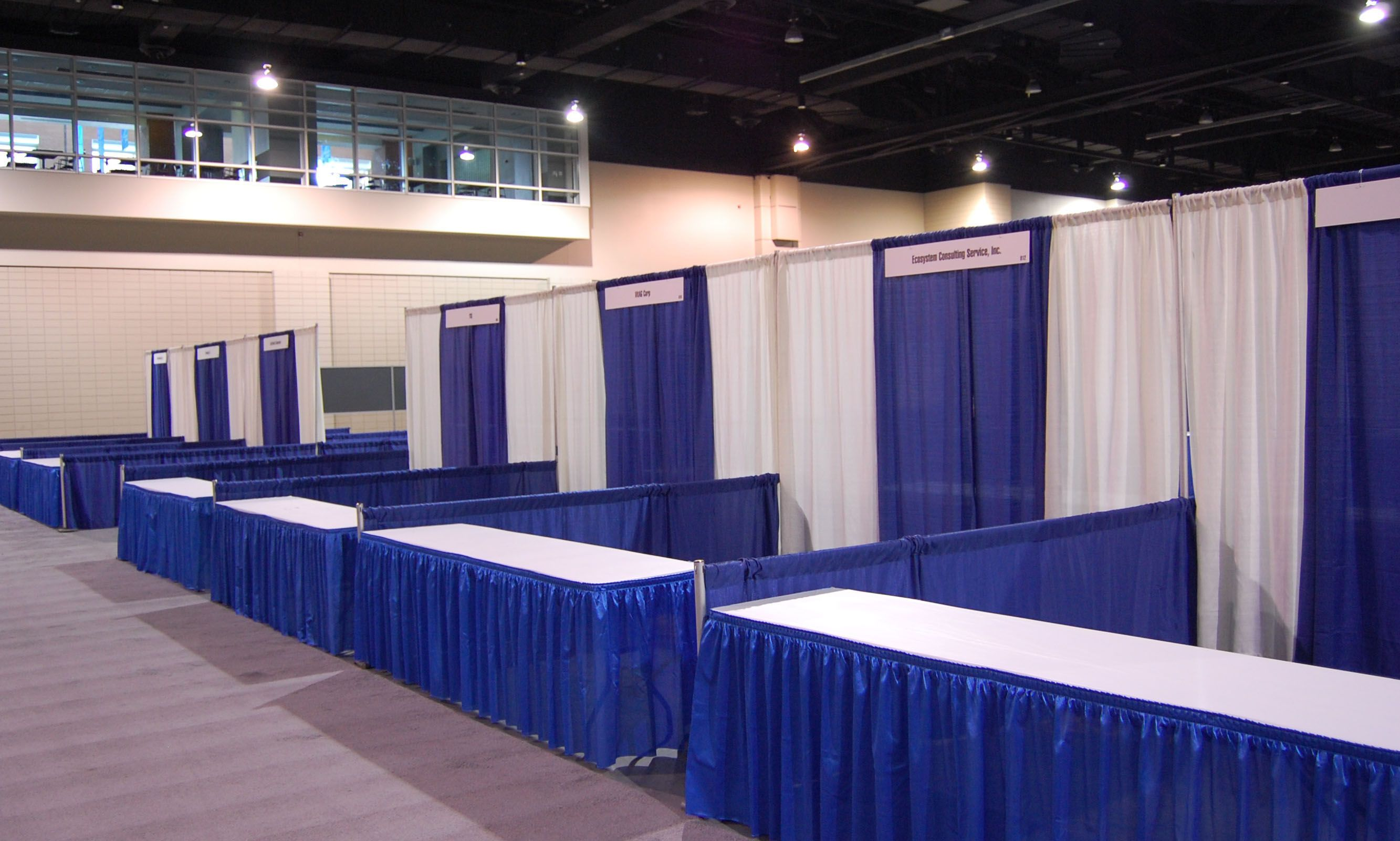 Trade Show Booth Pipe And Drape System Pinterest