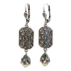 41b8bdeba Catherine Popesco La Vie Parisienne Art Deco Rectangular Drop Earrings.  Available at www.regencies.com